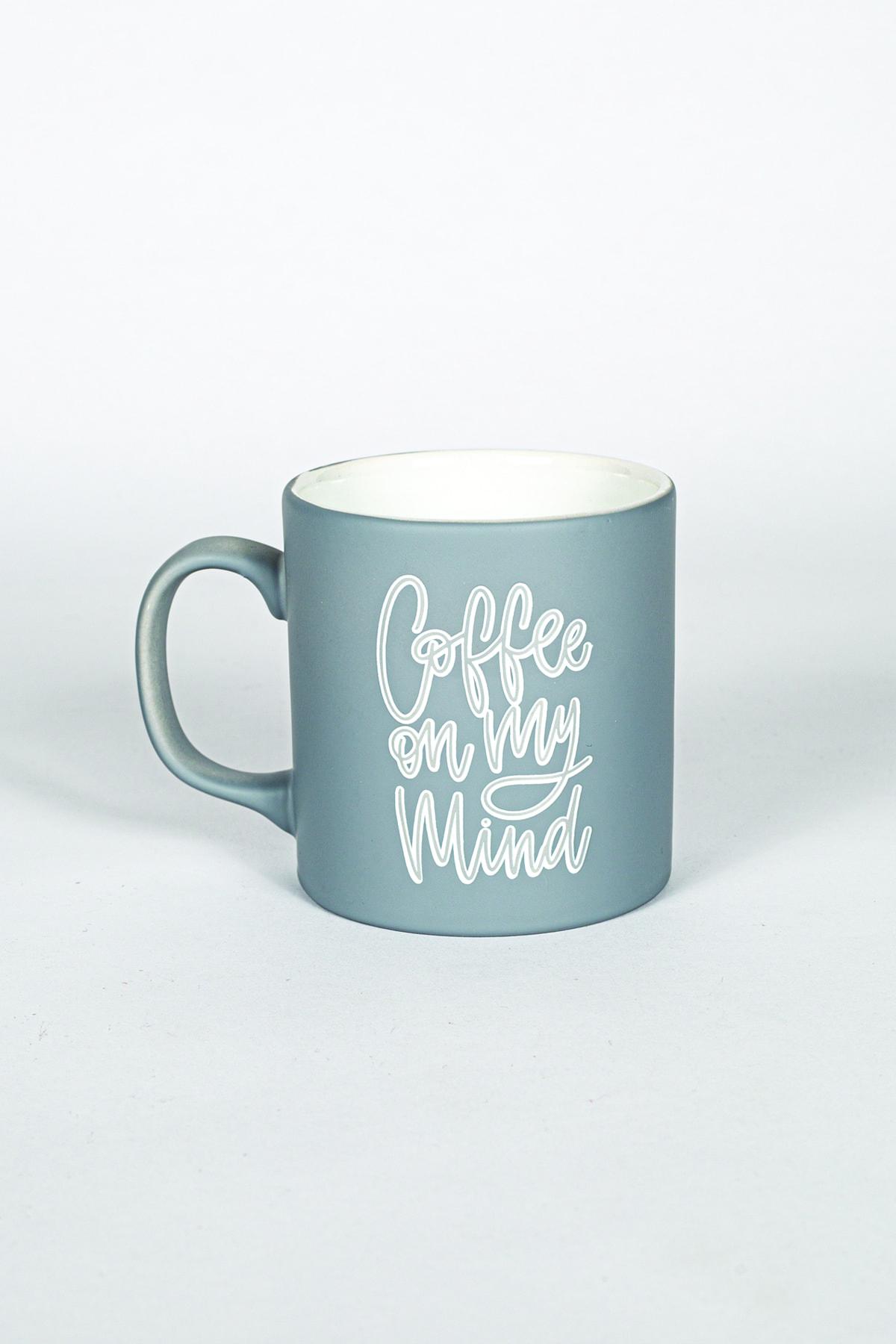 Coffee Kupa Bardak Gri 320 Cc