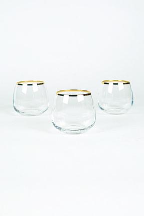 Rakle Astoria Gold 3'lü Kahve Yanı Bardağı Seti 220 Cc 3