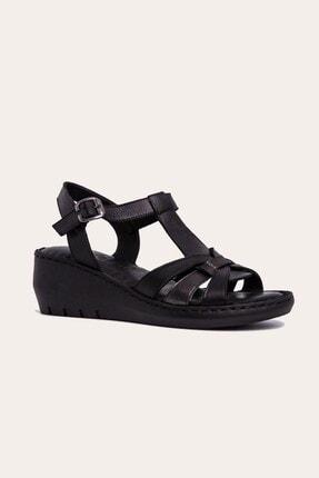 Dolgu Taban Deri Sandalet 004 Bty002 004 BTY002