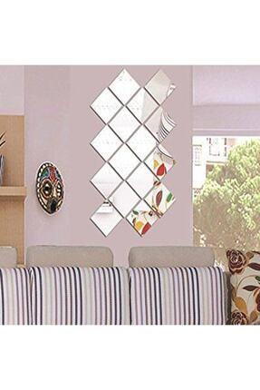 GİZEM SHOP Dekoratif Kare Pleksi Ayna Gümüş 1