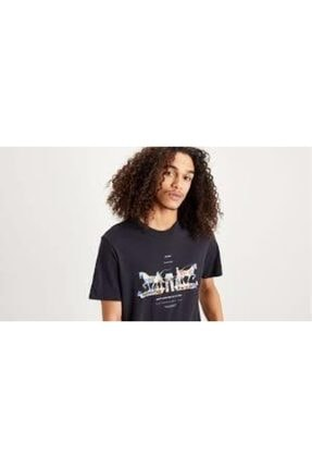 Levi's Erkek Siyah Baskılı T-shirt 22495-0067 1