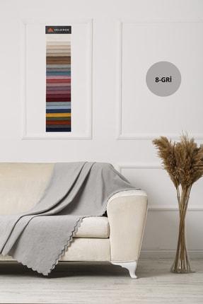 VELERDE HOME Velerde Şönil Çift Taraflı Çekyat Koltuk Örtüsü Şalı - 22 Renk 1