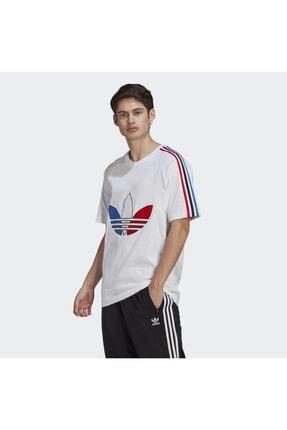 adidas Erkek Beyaz Adicolor Tricolor Tişört 0