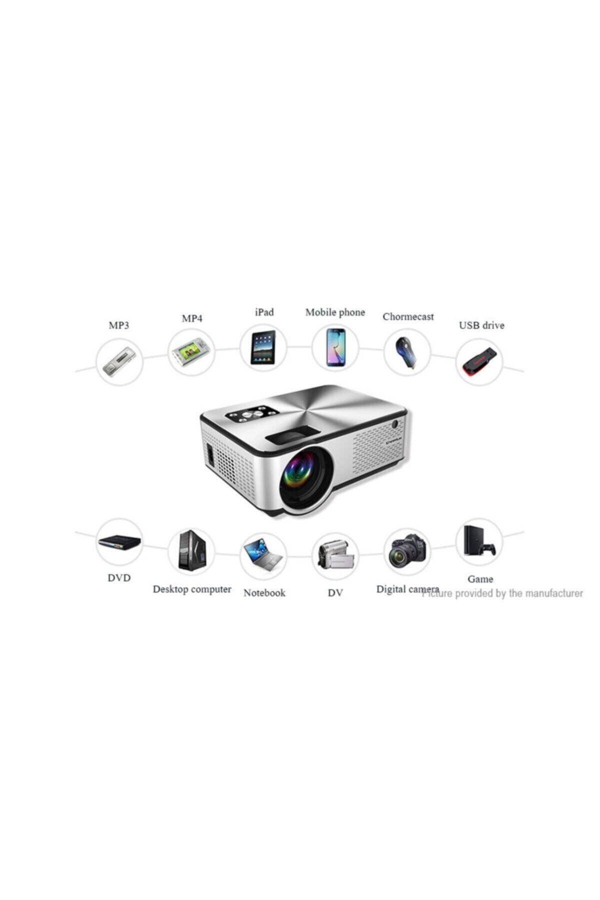 Yeni Cheerlux C9 Smart TV, netflix,youtube,android, Ois,WİFİ&,Full HD Projeksiyon Cihazı