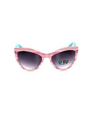Çocuk Organik Camlı Uv400 Açık Pembe Kız Çocuk Güneş Gözlüğü 3smc653r005 resmi