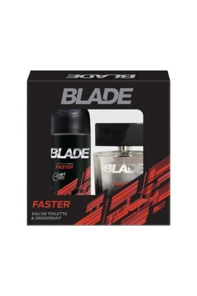 Blade Faster Edt 100 ml + 150 ml Deodorant Erkek Parfüm Seti 8690586015639 0