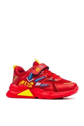 Alessio Unisex Kırmızı Çocuk Okul Ve Spor Ayakkabı 1