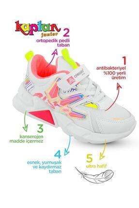 Alessio Kız Çocuk Beyaz Fuşya Yazlık Spor Ayakkabı 2