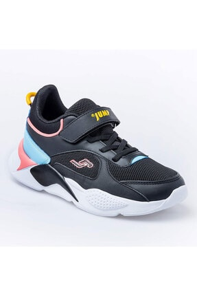 Jump Unisex Çocuk Siyah Royal Spor Ayakkabı 24931 1