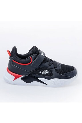 Jump Unisex Çocuk Siyah Günlük Cırtlı Spor Ayakkabı 0