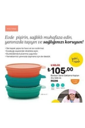 Tupperware Bonbon Kaplar - 3'lü X 500 ml 2