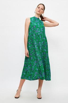 TRENDYOLMİLLA Çok Renkli Desenli Elbise TWOSS20EL0573 2