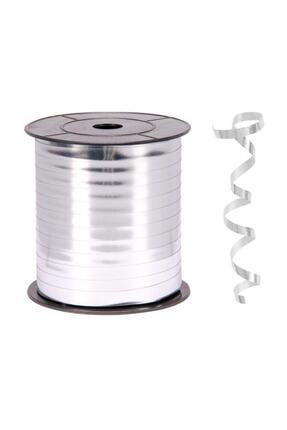 Kikajoy Metalik Gümüş Renk Rafya 8 Mm X 200 M 0