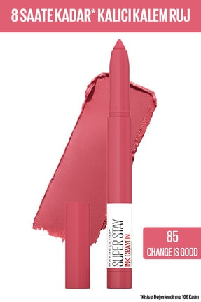 Maybelline New York Super Stay Ink Crayon Kalem Mat Pinks Edition 85 Change Is Good Ruj 0