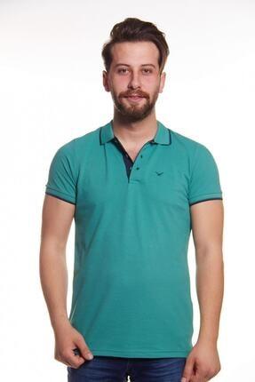 Cazador Erkek Yeşil Polo Yaka Çizgili T-shirt 0