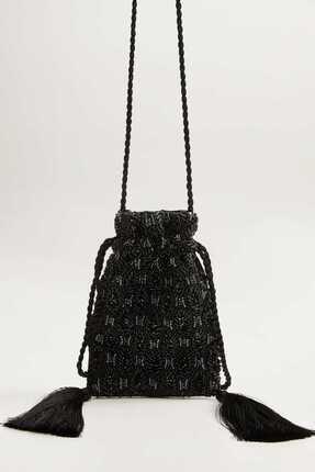 Picture of Kadın Siyah İşlemeli Bucket Çanta 53003751