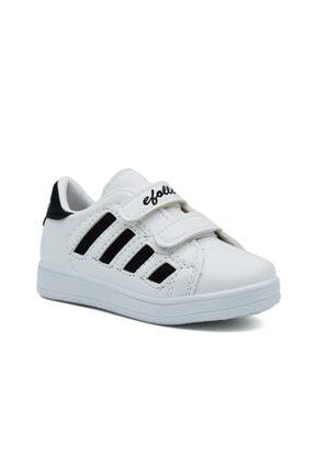 Efolle Unisex Çocuk Siyah Beyaz Sneaker 0