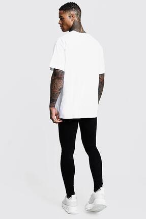 Oksit Man Imza Detaylı Oversize T-shirt 1