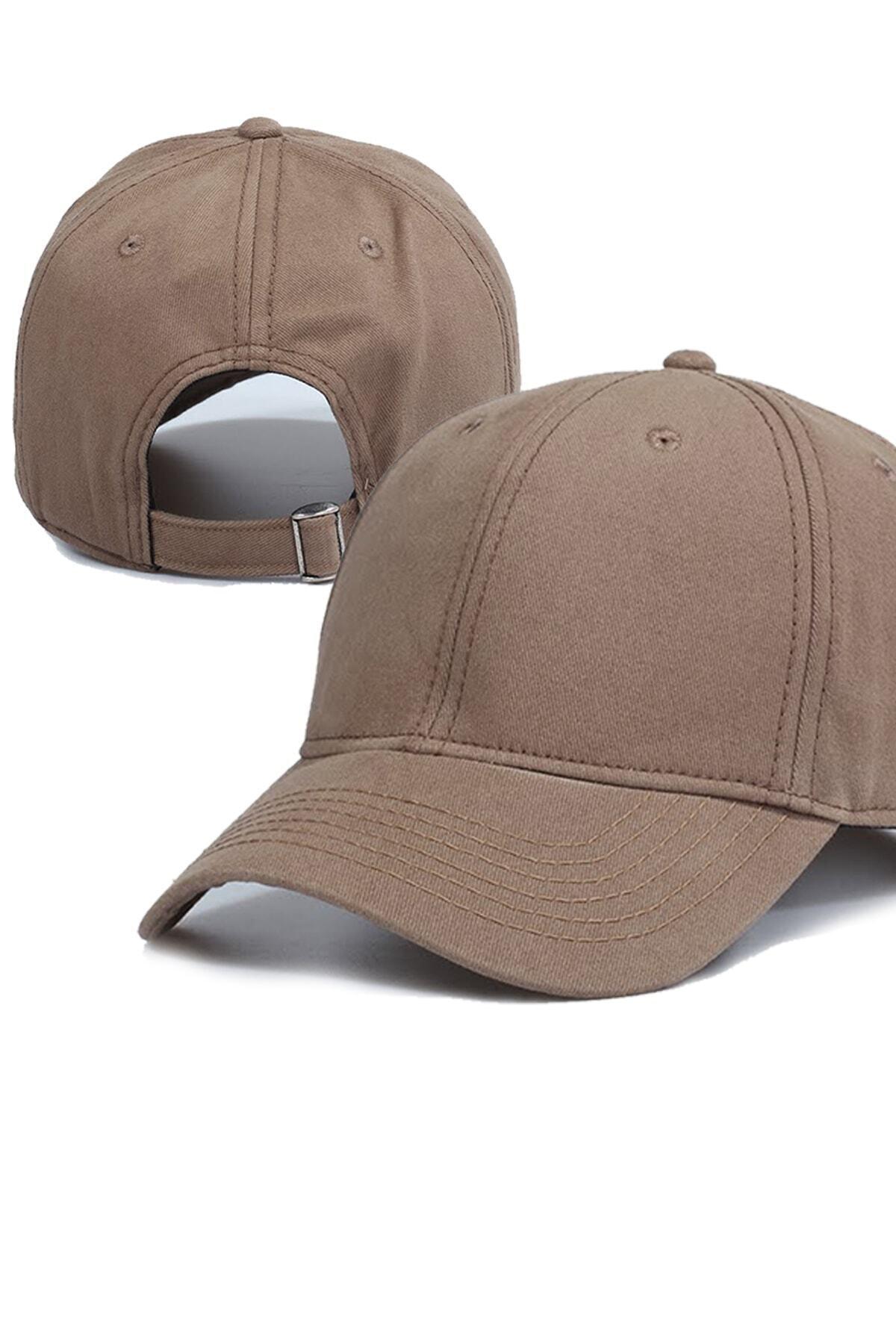 Yeni Sezon Pamuklu Yazlık Bej Şapka Unisex Snapback Trend Şapka