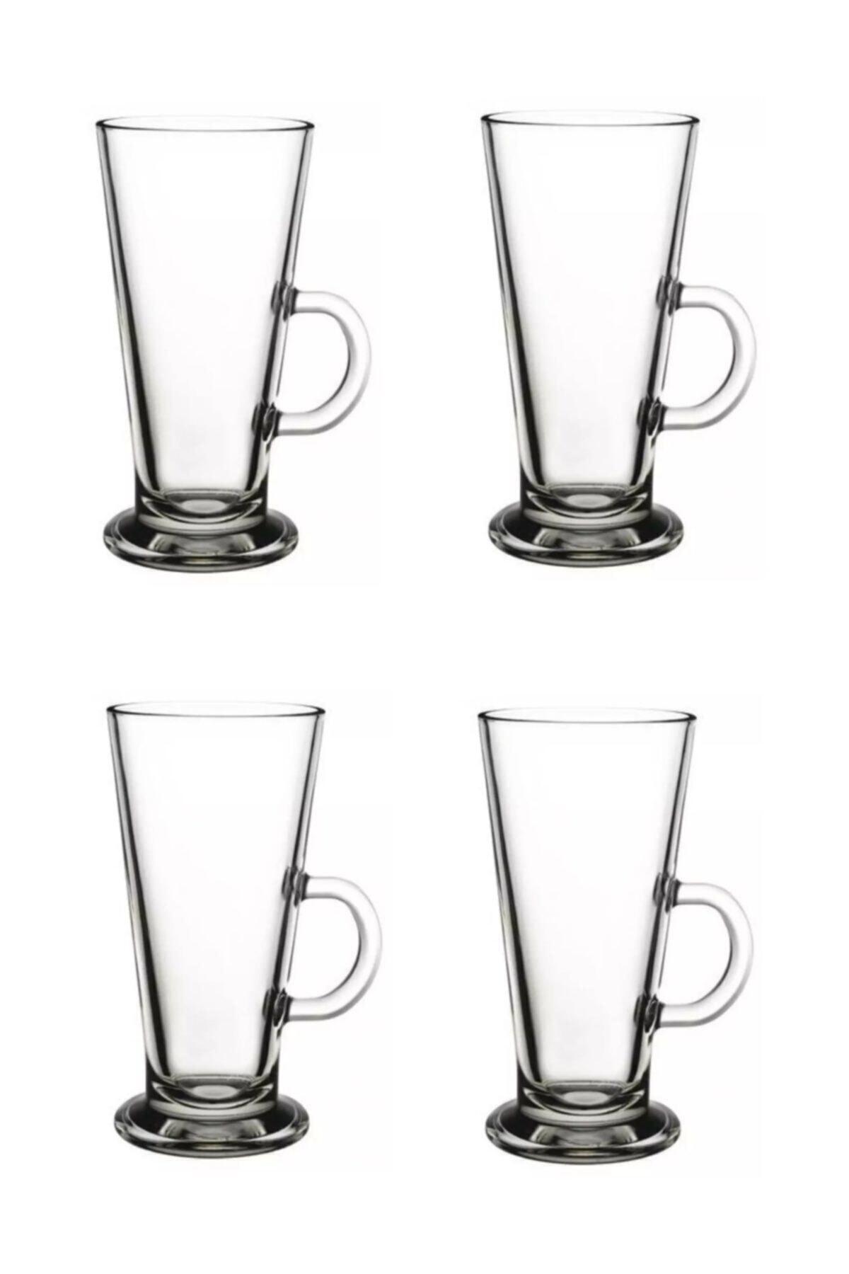 Paşabahçe Latte Bardağı Dörtlü Set