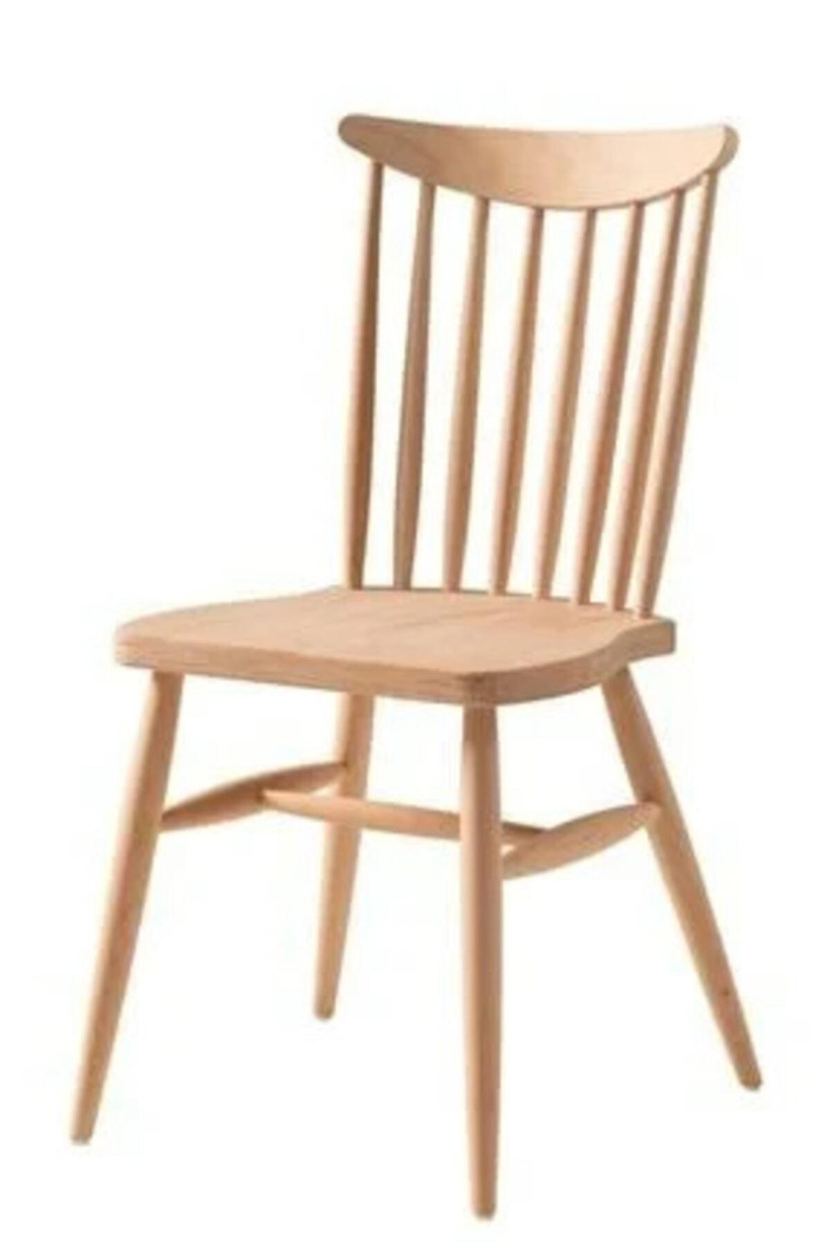 Yıldız Sandalye Cilasız Ahşap