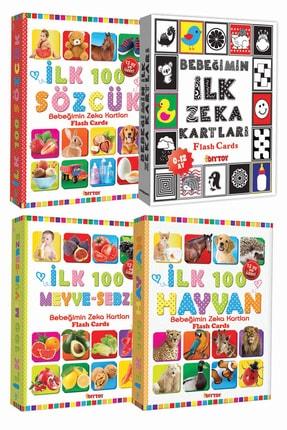 Diytoy Eğitim Seti 100 Sözcük + Ilk 100 Hayvan + Ilk 100 Sebze Meyve + Bebeğimin Ilk Zeka Kartları 0