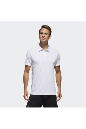 adidas CLMCH M POLO SL Beyaz Erkek Kısa Kol T-Shirt 101117604 0