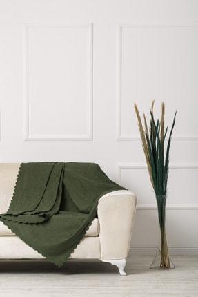 VELERDE HOME Yeşil Nefti Çift Taraflı Çekyat Koltuk Örtüsü 0