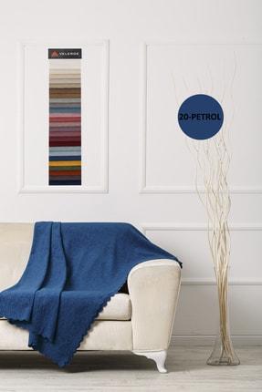 VELERDE HOME Petrol Rengi Velerde Şönil Çift Taraflı Çekyat Koltuk Örtüsü Şalı -22 Renk 1