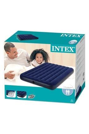 Intex 64758 Çift Kişilik Şişme Yatak Klasik Dura-beam 137x191x25 cm 1