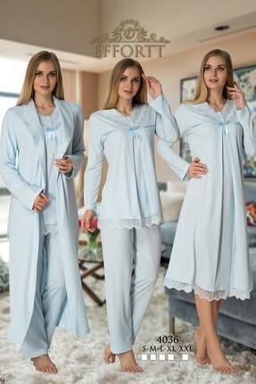 Effort Pijama Effortt 4036 Lohusa Hamile 4'lü Set 0