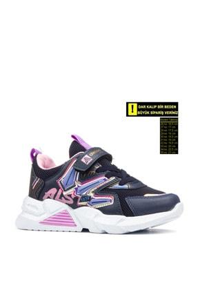 Alessio Kız Çocuk Lacivert Pembe Yazlık Spor Ayakkabı 0