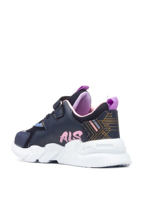 Alessio Kız Çocuk Lacivert Pembe Yazlık Spor Ayakkabı 3