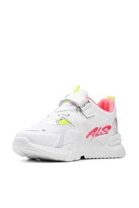 Alessio Kız Çocuk Beyaz Fuşya Yazlık Spor Ayakkabı 3