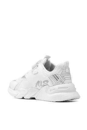 Alessio Unisex Beyaz Çocuk Spor Ayakkabı Yazlık Sneaker 2