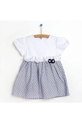 Picture of Beyaz Yarım Kollu Kız Bebek Elbisesi