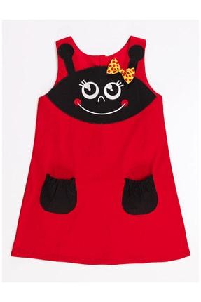 Denokids Kız Çocuk Kırmızı Uğur Böceği Kız Elbise 2
