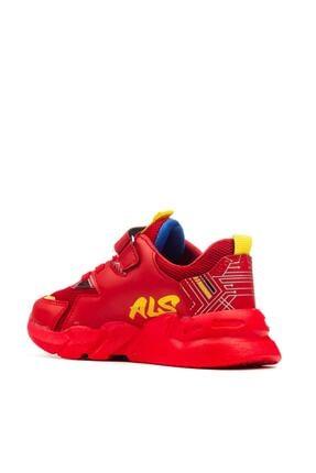 Alessio Unisex Kırmızı Çocuk Okul Ve Spor Ayakkabı 4