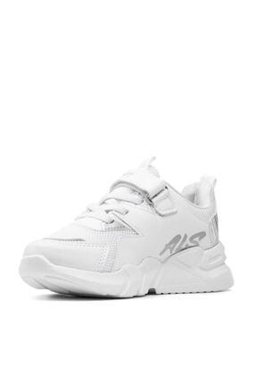 Alessio Unisex Beyaz Çocuk Spor Ayakkabı Yazlık Sneaker 3
