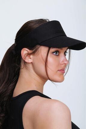 tuplepie Unisex Uv Koruyucu Vizör Kasket Siperlik Tenis Şapka - Siyah 1