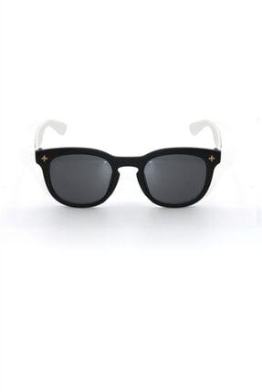 Çocuk Organik Camlı Uv400 Beyaz Erkek Çocuk Güneş Gözlüğü 3smc40174r006 resmi