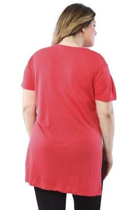 Hanezza V Yaka Yanı Yırtmaçlı T-shirt 3