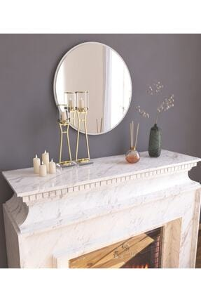 MONEayna Dekoratif Yuvarlak Ayna Beyaz Antre Hol Koridor Duvar Salon Mutfak Banyo Wc Ofis Aynası 1