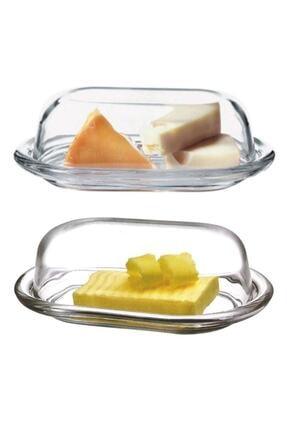 Paşabahçe 2'li Cam Basic Kapaklı Tereyağlık Peynir Tereyağ Kahvaltılık Saklama & Sunum Kabı 0