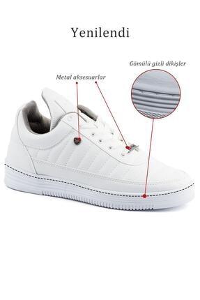 L.A Polo 07 Beyaz Dikişli Unisex Spor Ayakkabı 4