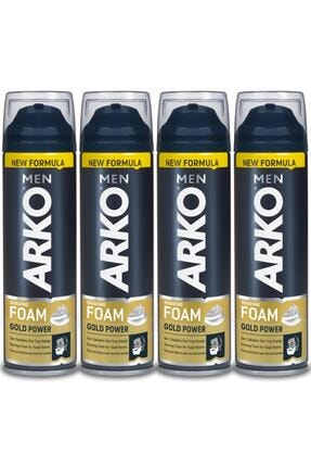 Arko Men Men Tıraş Köpüğü Gold Power 4x200ml 1