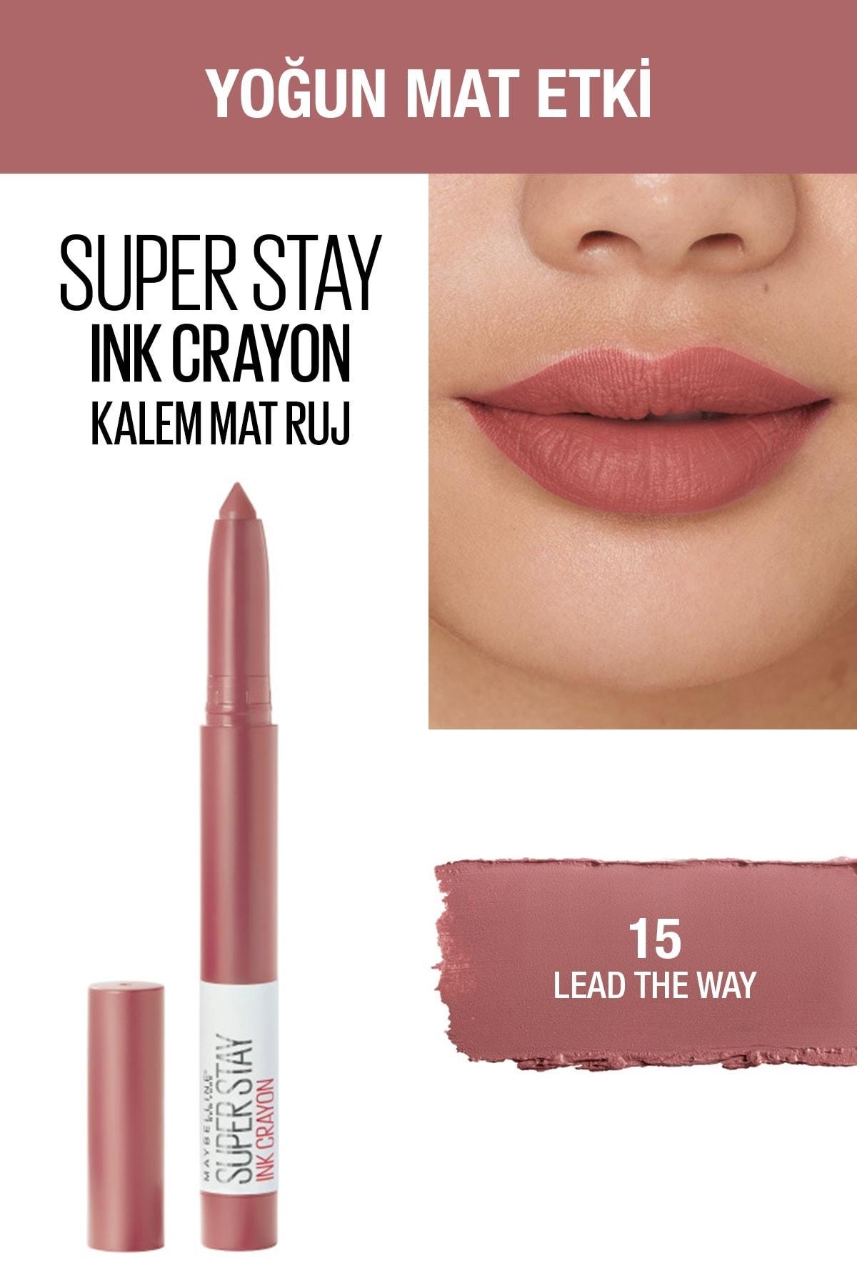 Maybelline New York Kalem Ruj - Sw Superstay Ink Crayon 15 Lead the Way 30174184