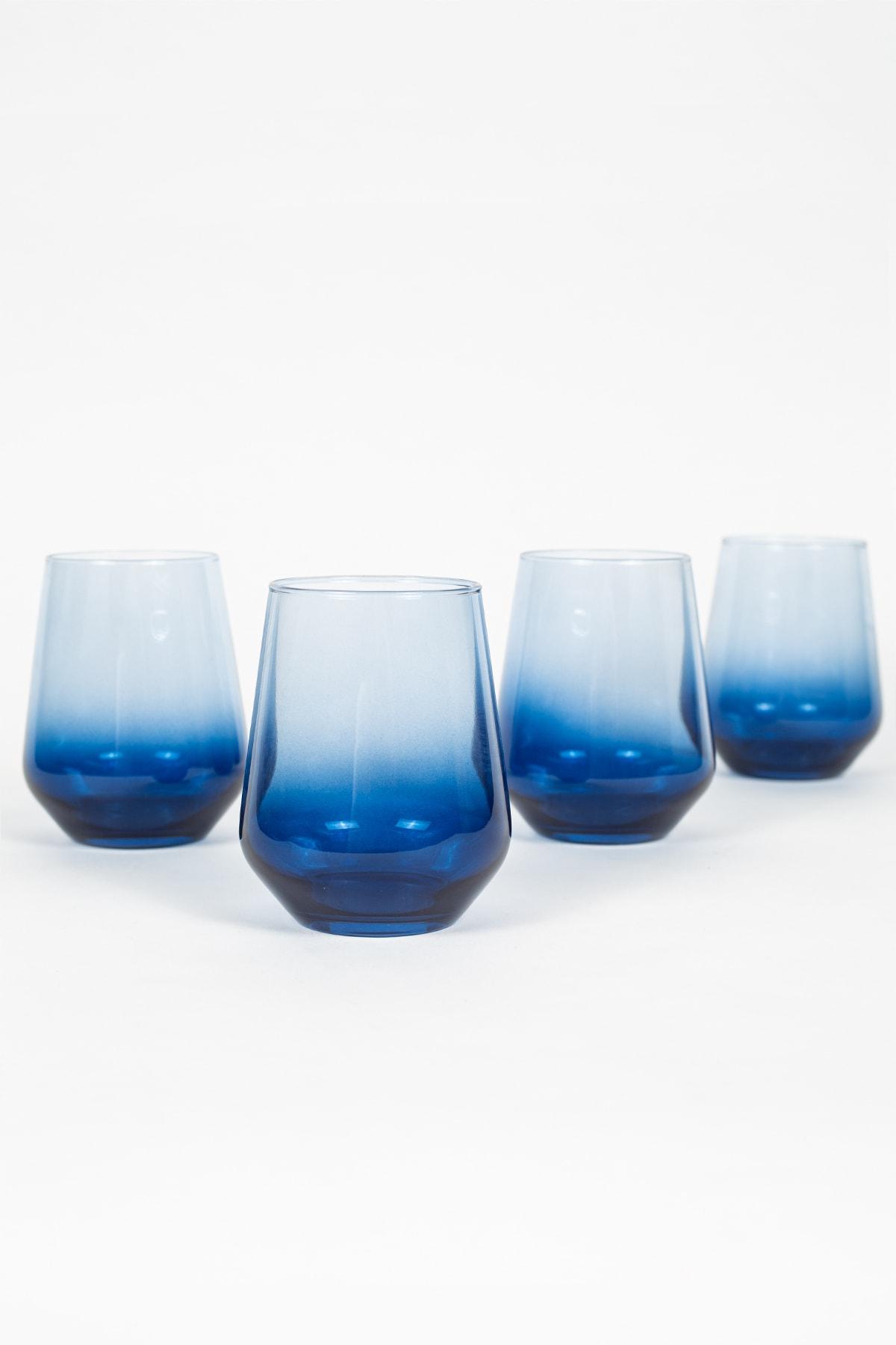 New Iconic 4'lü Su Bardağı Seti Mavi 425 Cc