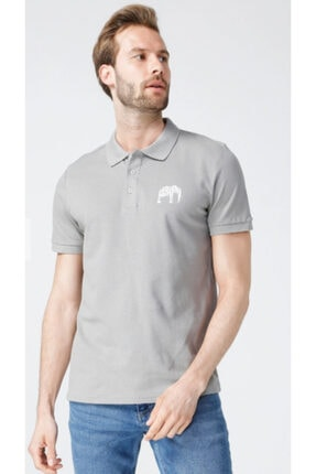 Picture of Erkek Gri National Geographic P-elephant Polo T-shirt