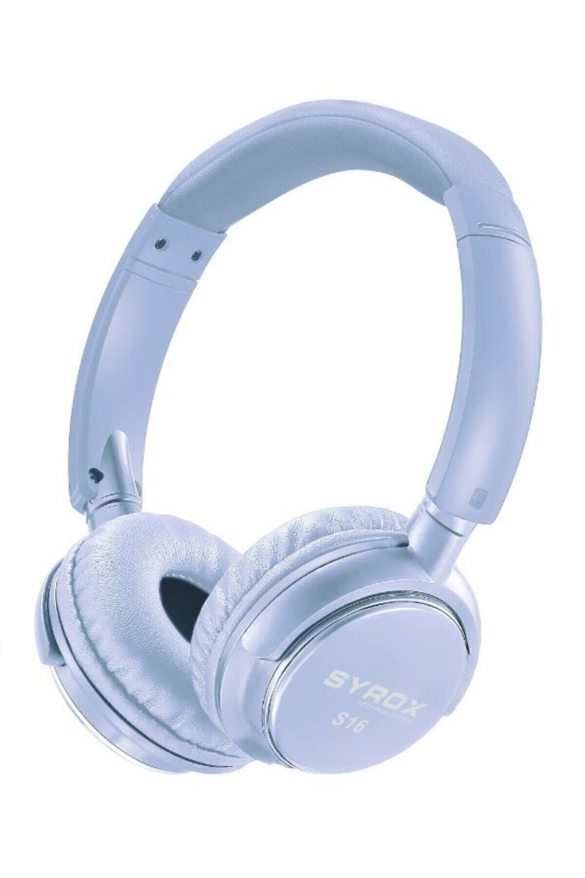 Sayrox Kablosuz Bluetooth Kulak Üstü Kulaklık S16 - Mavi Renk